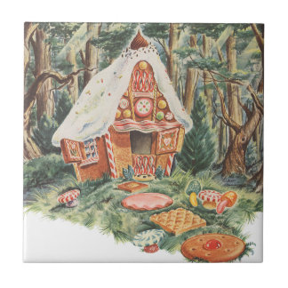 Vintage Fairy Tale, Hansel and Gretel Candy House Tile