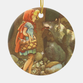 Vintage Fairy Tale, Little Red Riding Hood Ornaments
