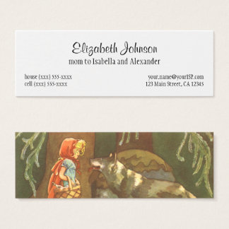Vintage Fairy Tale, Little Red Riding Hood Mini Business Card