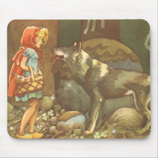 Vintage Fairy Tale, Little Red Riding Hood Mouse Pad