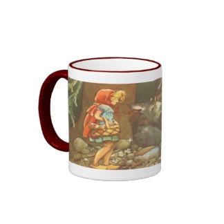 Vintage Fairy Tale, Little Red Riding Hood Mug