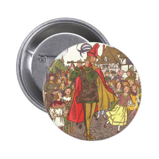 Vintage Fairy Tale Pied Piper of Hamelin by Hauman 6 Cm Round Badge
