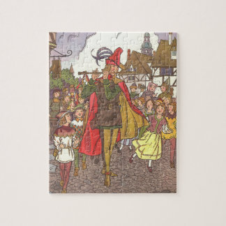 Vintage Fairy Tale Pied Piper of Hamelin by Hauman Jigsaw Puzzle