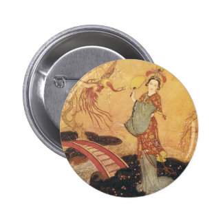 Vintage Fairy Tale Princess Badoura, Edmund Dulac Pins