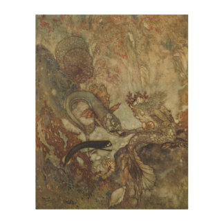 Vintage Fairy Tale, The Mermaid by Edmund Dulac Wood Canvases