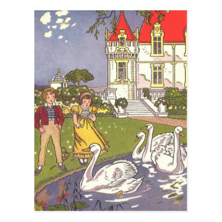 Vintage Fairy Tale, The Ugly Duckling by Hauman Postcard