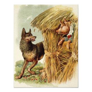 Vintage Fairy Tale, Three Little Pigs Invitation