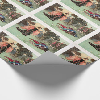 Vintage fairy tale wrapping paper
