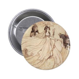 Vintage Fairy Tales, Cinderella by Arthur Rackham 6 Cm Round Badge