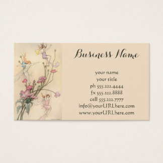 Vintage Fairy Tales, Three Spirits Filled With Joy Business Card