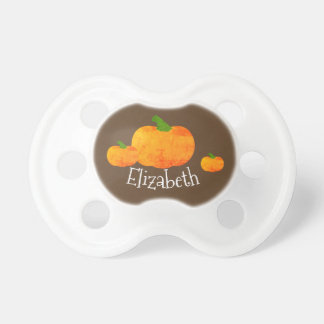 Vintage Fall Pumpkin Baby Pacifier