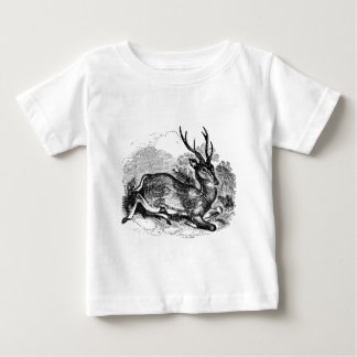 Vintage Fallow Deer Buck Personalized Illustration Baby T-Shirt