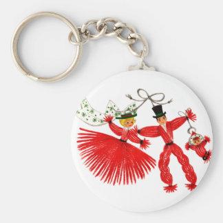 Vintage Family Christmas Keychain