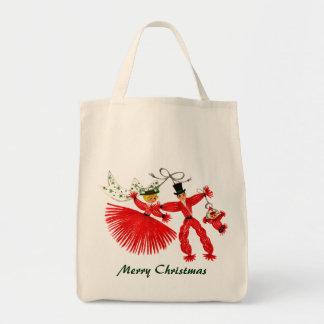Vintage Family Christmas Organic Grocery Tote Tote Bag