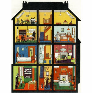 Vintage Family Home Acrylic Cut Out