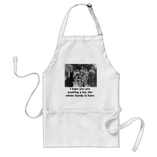 Vintage family reunion apron