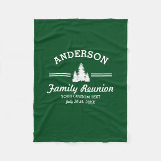 Vintage Family Reunion or Trip | Rustic Pine Trees Fleece Blanket