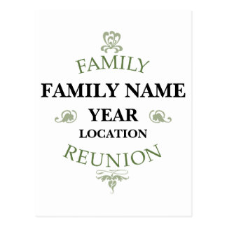 Vintage Family Reunion Postcard
