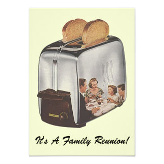 Vintage Family Reunion Toaster Reflect Invitation