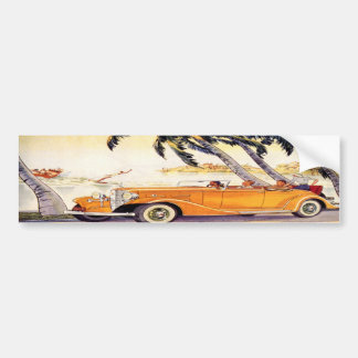 Vintage Family Vacation in a Convertible Car Bumper Sticker
