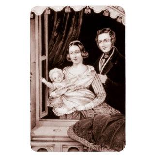 Vintage Family With Infant Child. Rectangular Photo Magnet