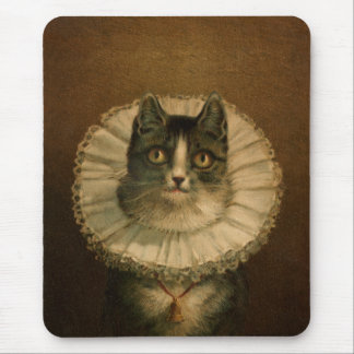Vintage Fancy Cat Mousepad