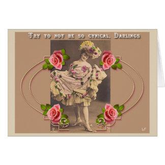Vintage Fancy Dancer Greeting Card
