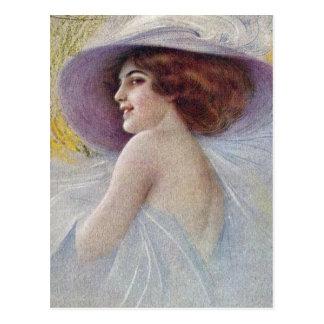 Vintage Fancy Fashionable Lady (23) Postcard