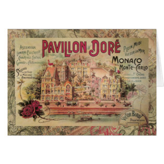 Vintage Fancy Monaco collage Monte Carlo Travel Greeting Card
