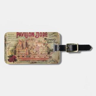 Vintage Fancy Monaco collage Monte Carlo Travel Luggage Tag