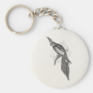 Vintage Fancy Parakeet Parrots 1800s Tropical Bird Key Ring