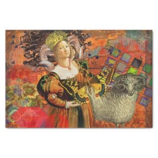 Vintage Fantasy Aries Gothic Whimsical Collage Tissue Paper