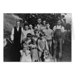 Vintage farm family greeting card