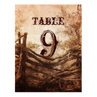 vintage farm fence western country wedding table postcards