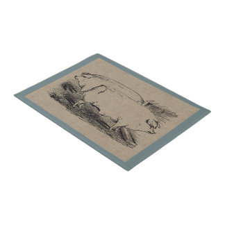 Vintage Farm Hogs Country Farm and Pets Doormat