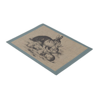 Vintage Farm Rabbits Country Farm and Pets Doormat
