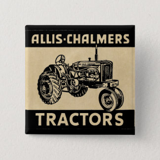 Vintage Farm Tractor 15 Cm Square Badge