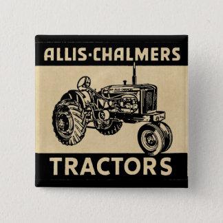 Vintage Farm Tractor 15 Cm Square Badge