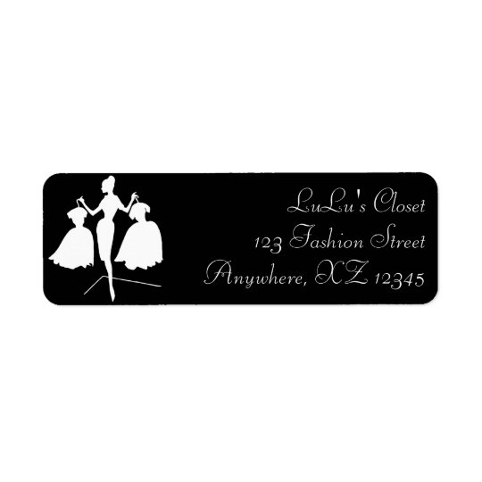 Vintage Fashiion Silhouette Return Address Label