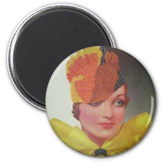Vintage Fashion 1933 6 Cm Round Magnet