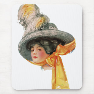 Vintage Fashion Advertising Mousepad