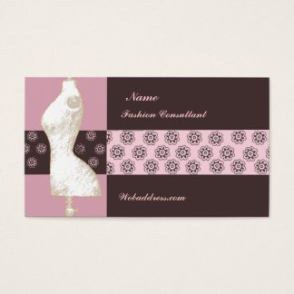 Vintage Fashion Design  Styling Beauty Consultant Business Card