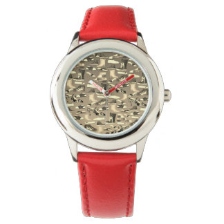 Vintage Fashion Girl Funny Shoe Pattern Cool Chic Watch