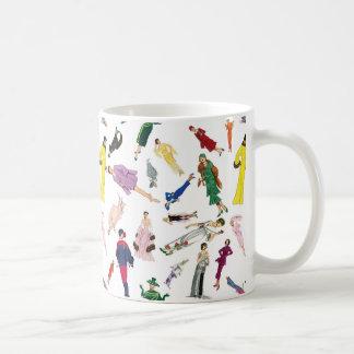 Vintage Fashion Illustration Ladies Coffee Mug