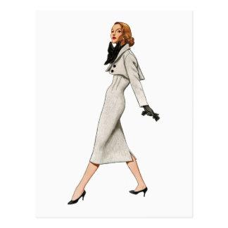 Vintage Fashion Image Postcard