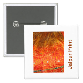Vintage Fashion : Jaipur Print Gold with Zari Work Pin