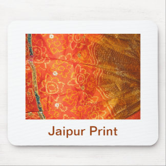 Vintage Fashion : Jaipur Print Gold with Zari Work Mouse Pad