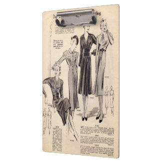 Vintage fashion print clipboard