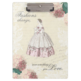 Vintage fashion quote clipboard