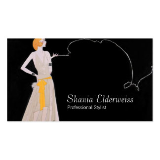 Vintage Fashion Stylist Business Card Template